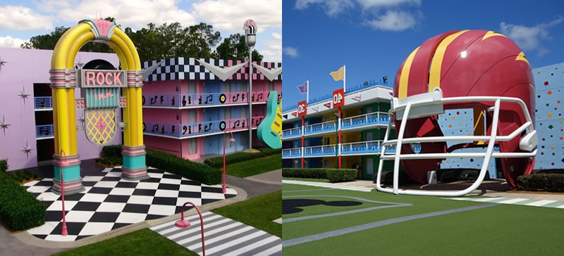 Disney´s All-Star Music Resort / Disney's All-Star Sports Resort